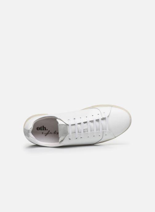 Sneaker OTH Graviere Cuir Recycle M weiß ansicht von links