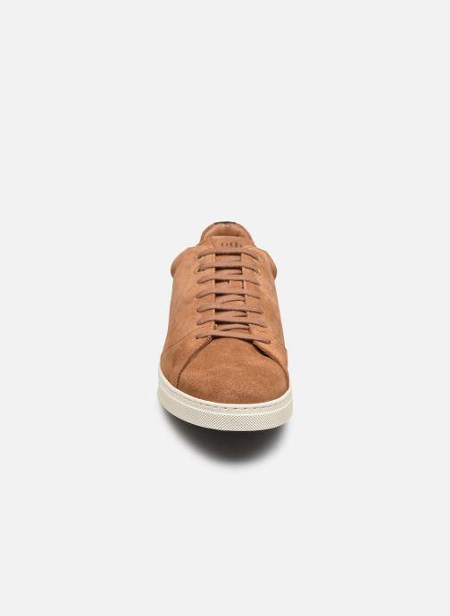 Baskets OTH Graviere Cuir Recycle M Marron vue portées chaussures