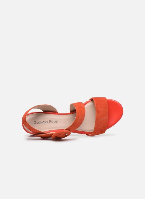 Sandales et nu-pieds Georgia Rose Lemca Orange vue gauche