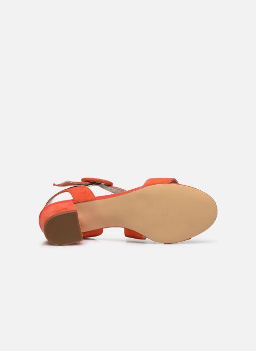 Sandales et nu-pieds Georgia Rose Lemca Orange vue haut