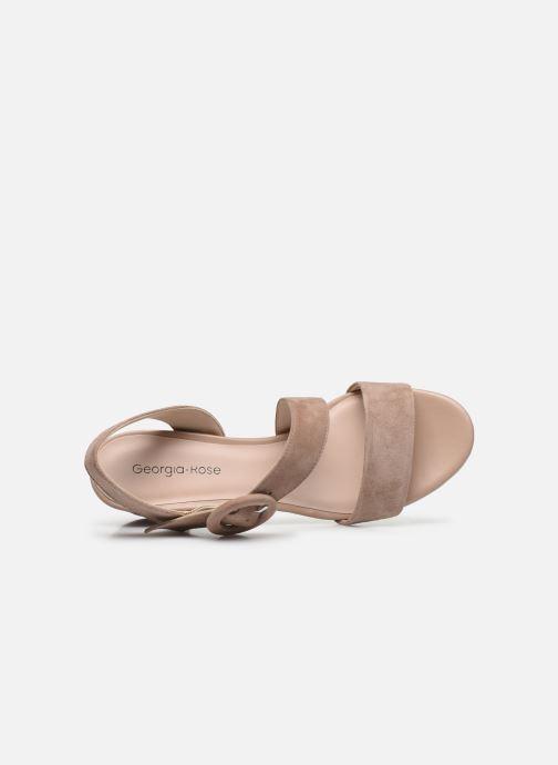 Sandales et nu-pieds Georgia Rose Lemca Beige vue gauche