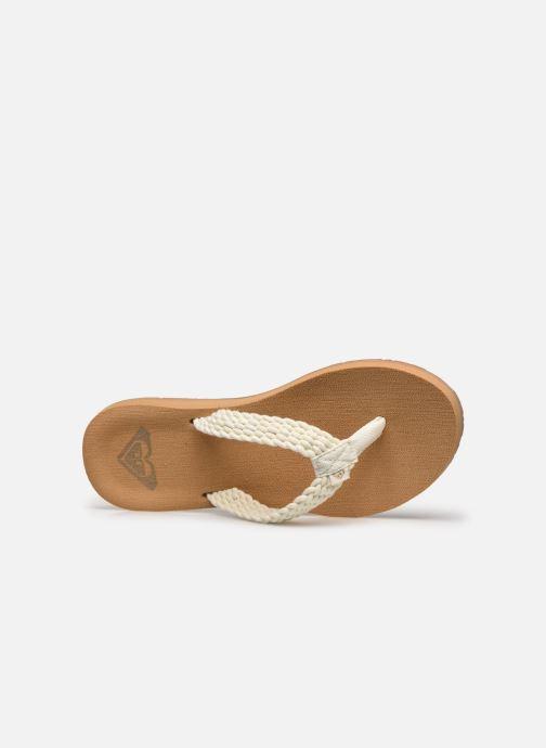 Slippers Roxy Porto III Wit links