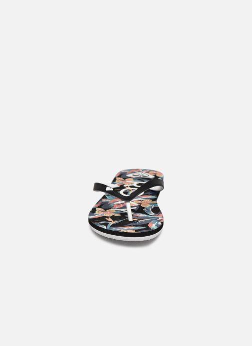 Tongs Roxy Tahiti VII Noir vue portées chaussures