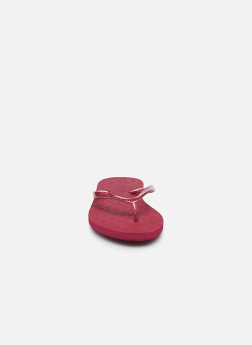 Tongs Roxy Viva Sparkle Rose vue portées chaussures