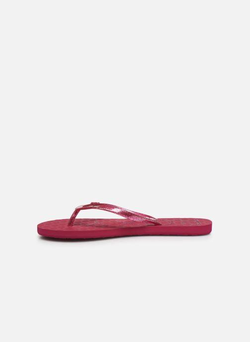 Zehensandalen Roxy Viva Sparkle rosa ansicht von vorne