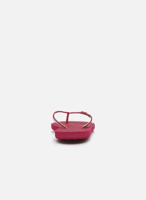 Zehensandalen Roxy Viva Sparkle rosa ansicht von rechts