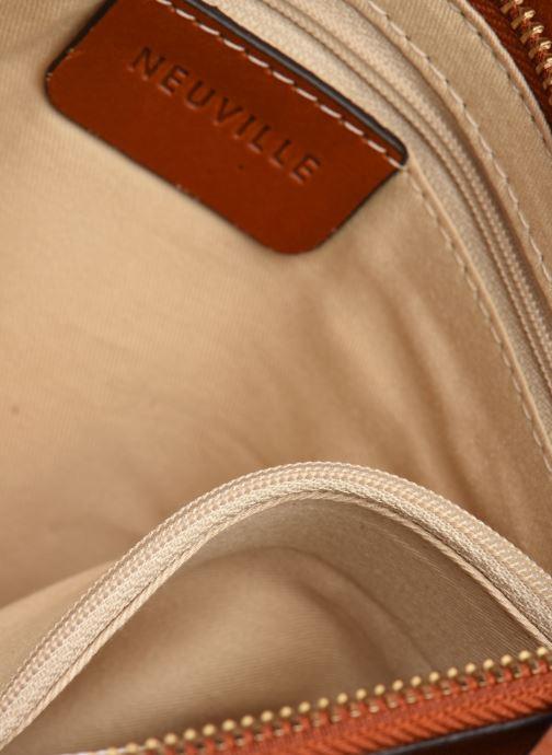 Handtassen Neuville Big Party Bruin achterkant
