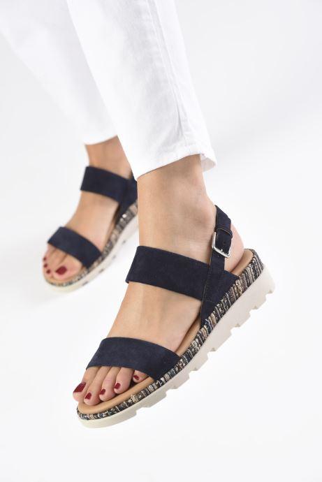Sandales et nu-pieds The Flexx Mod Bleu vue bas / vue portée sac