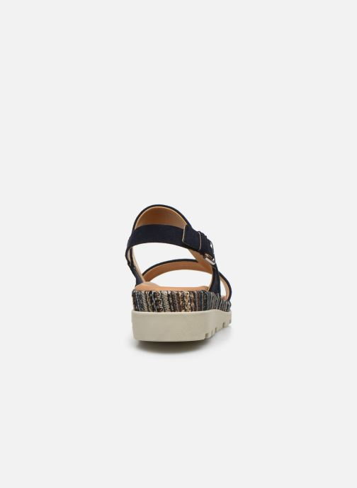 Sandalias The Flexx Mod Azul vista lateral derecha