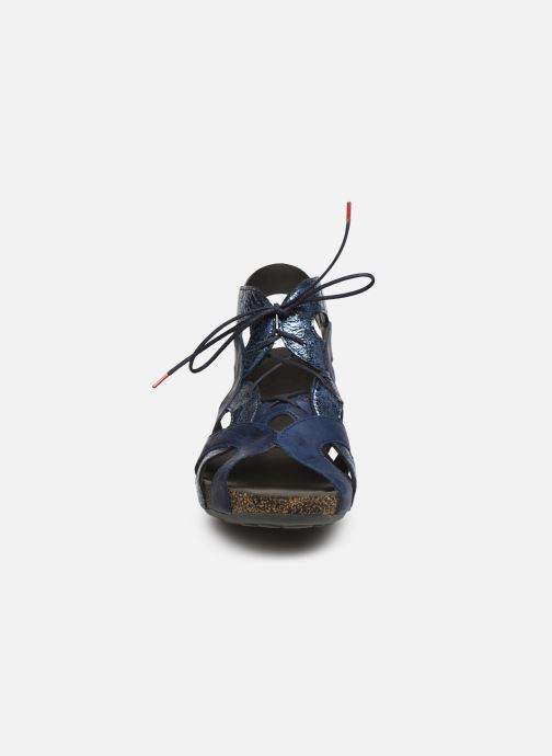 Sandales et nu-pieds Think! Traudi 86576 Bleu vue portées chaussures