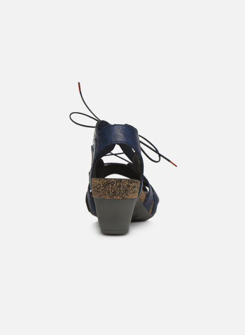 Sandales et nu-pieds Think! Traudi 86576 Bleu vue droite