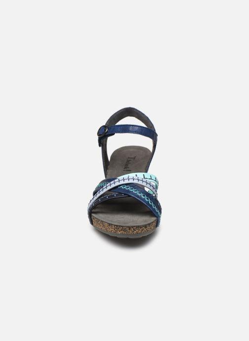 Sandales et nu-pieds Think! Traudi 86578 Bleu vue portées chaussures