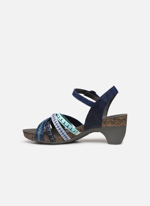 Sandales et nu-pieds Think! Traudi 86578 Bleu vue face