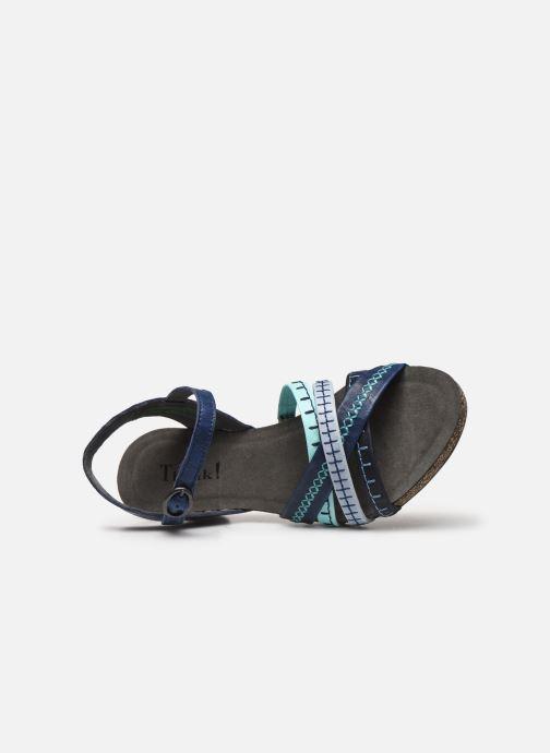 Sandales et nu-pieds Think! Traudi 86578 Bleu vue gauche