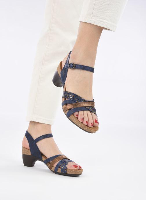 Sandales et nu-pieds Think! Traudi 86578 Bleu vue bas / vue portée sac