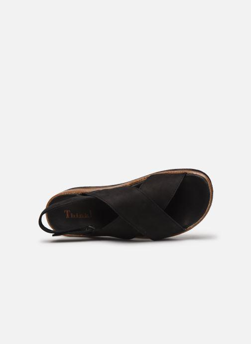 Sandales et nu-pieds Think! Zega 86388 Noir vue gauche