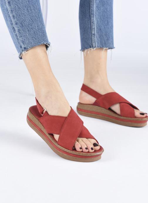 Sandales et nu-pieds Think! Zega 86388 Rouge vue bas / vue portée sac