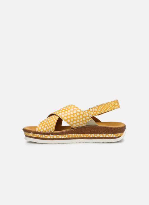 Sandales et nu-pieds Think! Zega 86387 Jaune vue face