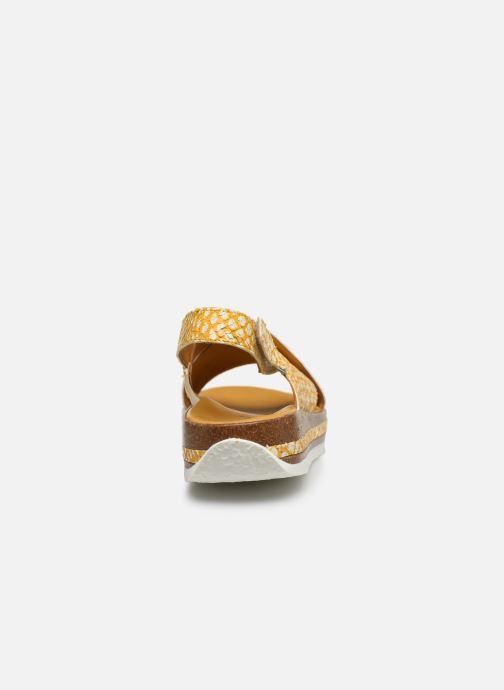 Sandales et nu-pieds Think! Zega 86387 Jaune vue droite