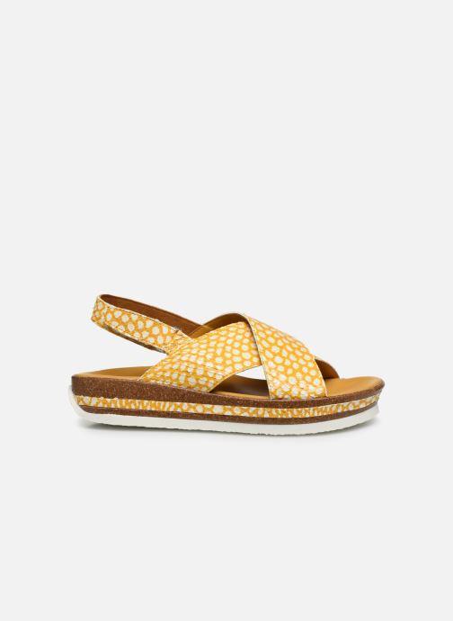 Sandales et nu-pieds Think! Zega 86387 Jaune vue derrière