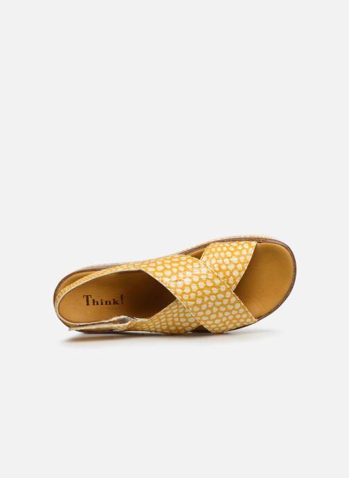 Sandales et nu-pieds Think! Zega 86387 Jaune vue gauche