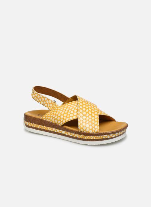 Sandales et nu-pieds Think! Zega 86387 Jaune vue détail/paire