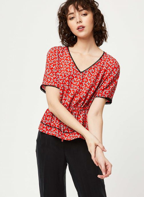 Vêtements I.Code Top QQ11174 Rouge vue droite