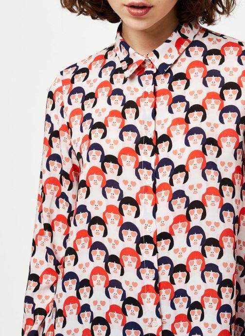 Vêtements I.Code Chemise QQ12044 Rouge vue face