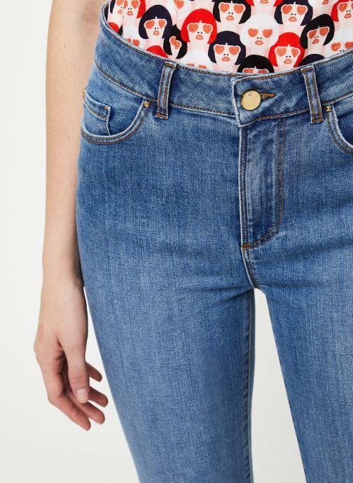 Vêtements I.Code Jeans QQ29054 Bleu vue face