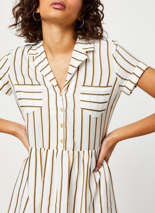 Vêtements I.Code Robe QQ30024 Blanc vue face