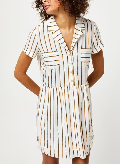 Vêtements I.Code Robe QQ30024 Blanc vue droite