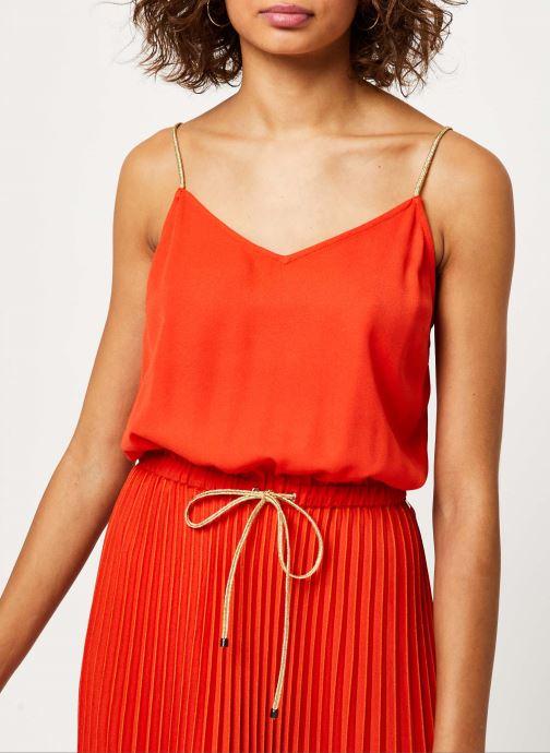 Vêtements I.Code Robe QQ31054 Orange vue face