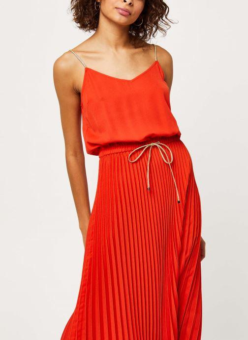 Vêtements I.Code Robe QQ31054 Orange vue droite