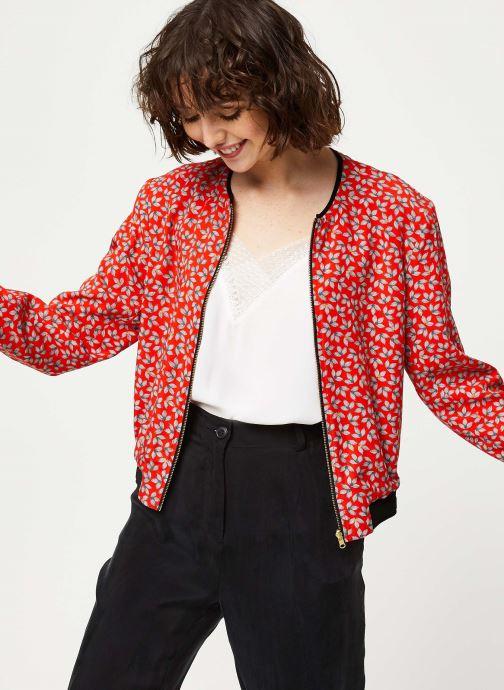 Vêtements I.Code Blouson QQ41034 Rouge vue détail/paire