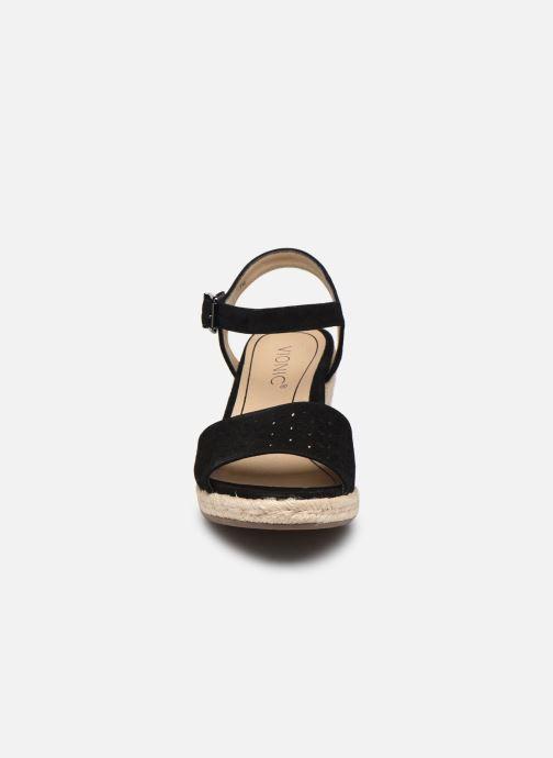 Espadrilles Vionic Ariel Noir vue portées chaussures