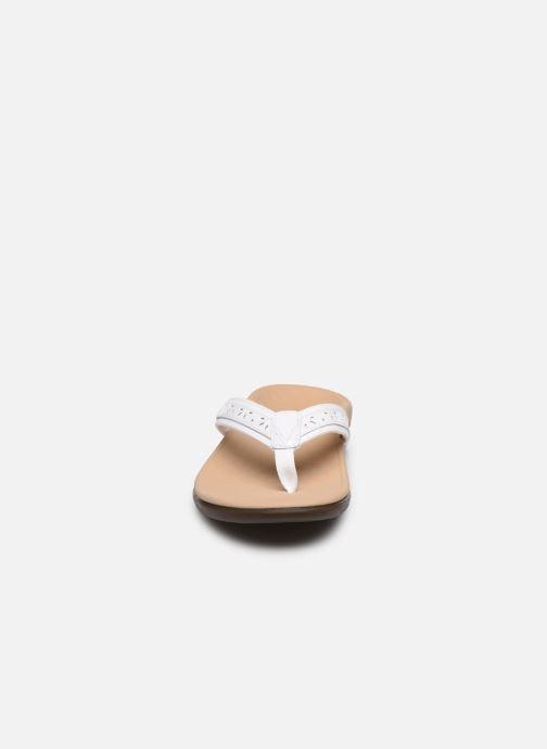 Tongs Vionic Casandra Lthr Blanc vue portées chaussures