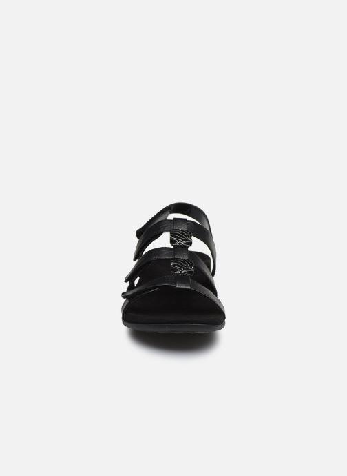 Sandales et nu-pieds Vionic Amber Noir vue portées chaussures