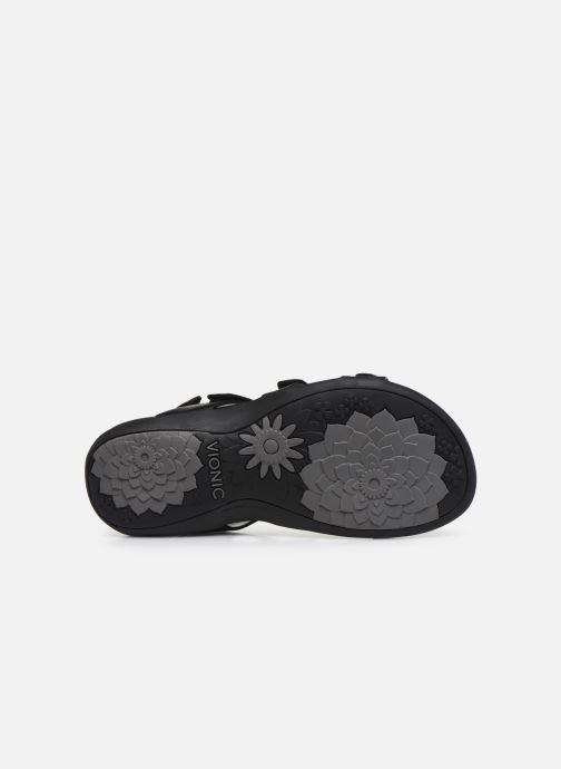 Sandales et nu-pieds Vionic Amber Noir vue haut
