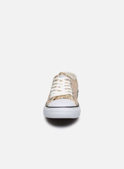Baskets Conguitos Matalizado Estrellas Argent vue portées chaussures