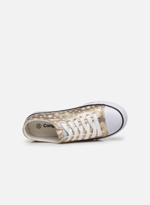 Sneakers Conguitos Matalizado Estrellas Sølv se fra venstre