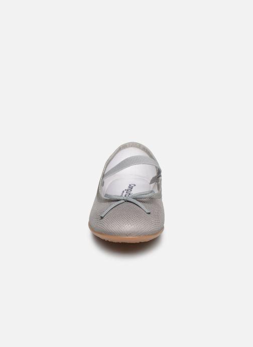 Ballerines Conguitos Pepi Gris vue portées chaussures