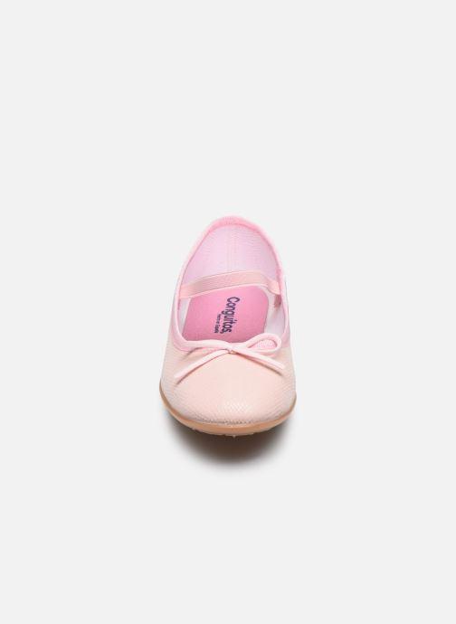 Ballerines Conguitos Pepi Rose vue portées chaussures