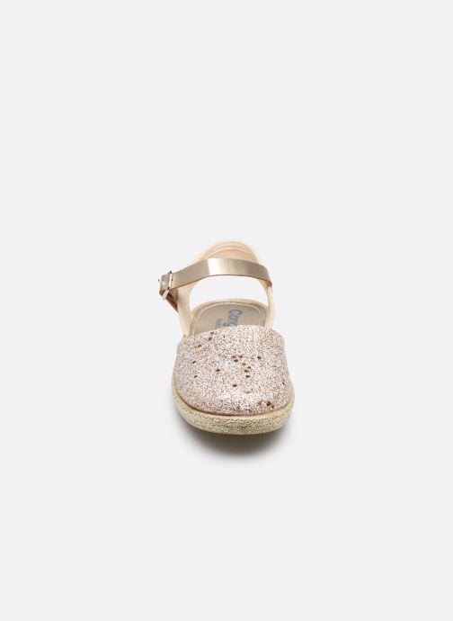 Espadrilles Conguitos Glitter Or et bronze vue portées chaussures