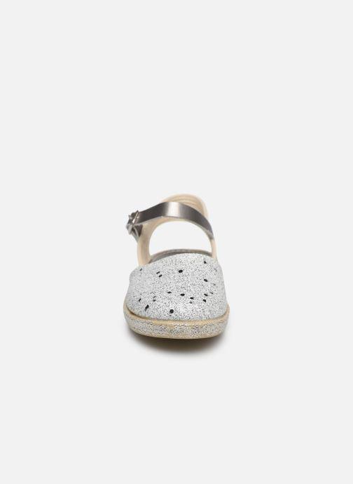 Scarpe di corda Conguitos Glitter Argento modello indossato