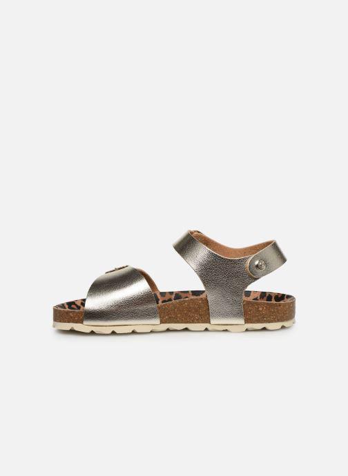 Sandalias Conguitos Metalizado Oro y bronce vista de frente