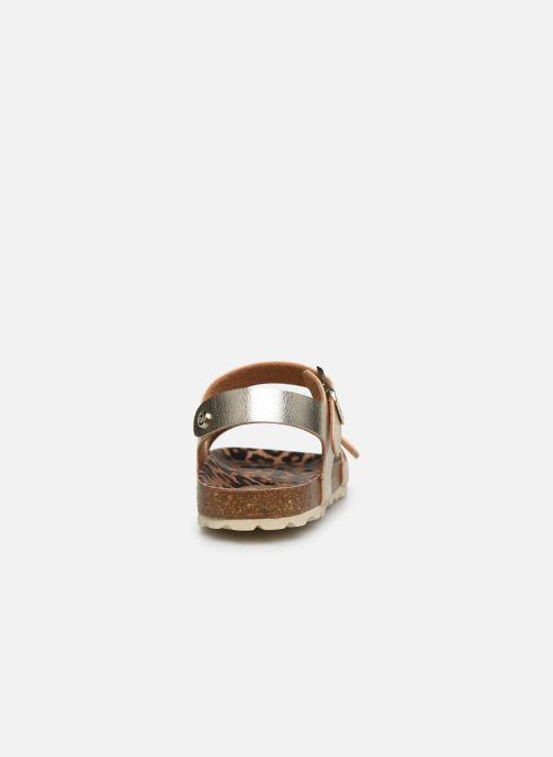 Sandalias Conguitos Metalizado Oro y bronce vista lateral derecha