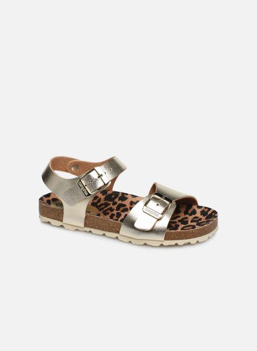 Sandales et nu-pieds Conguitos Metalizado Or et bronze vue détail/paire