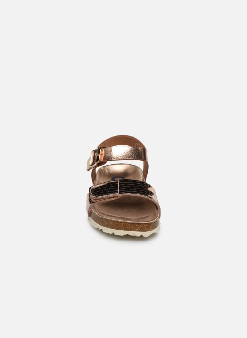 Sandales et nu-pieds Conguitos Metalizado Velcro Or et bronze vue portées chaussures