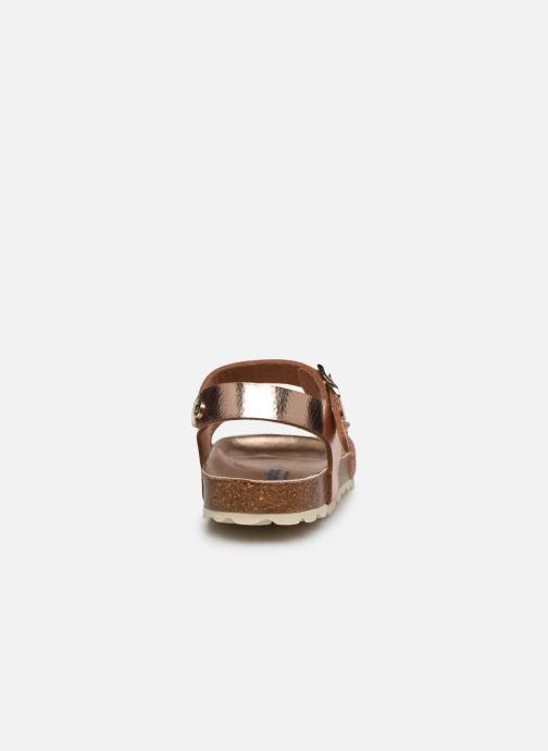 Sandalias Conguitos Metalizado Velcro Oro y bronce vista lateral derecha