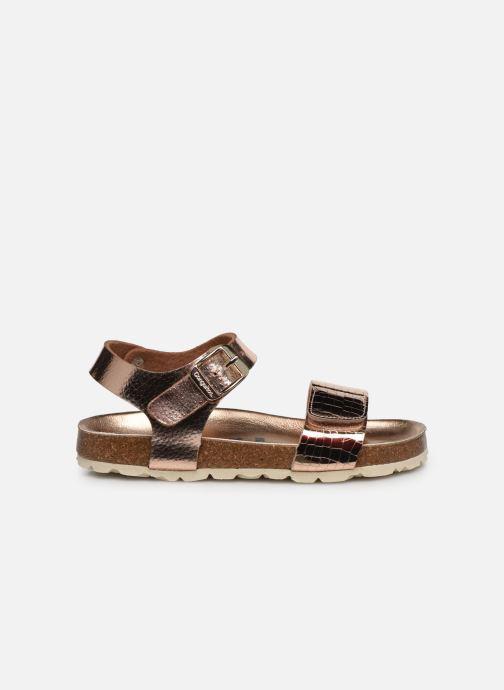 Sandalias Conguitos Metalizado Velcro Oro y bronce vistra trasera